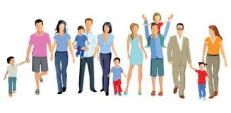 Οικογένειες με τα παιδιά απεικόνιση αποθεμάτων