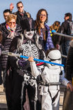 Οικογένειες στο κοστούμι στη Βενετία καρναβάλι Στοκ φωτογραφίες με δικαίωμα ελεύθερης χρήσης