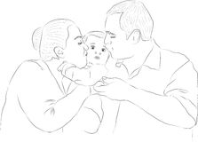 Οικογένειες διανυσματική απεικόνιση