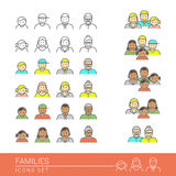 οικογένειες Στοκ εικόνα με δικαίωμα ελεύθερης χρήσης