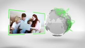 Οικογενειακά βίντεο με την ευγένεια γήινης εικόνας της NASA org απόθεμα βίντεο