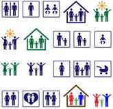 οικογενειακά εικονίδ&iota Στοκ εικόνες με δικαίωμα ελεύθερης χρήσης