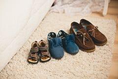 Οικογενειακά παπούτσια Στοκ εικόνες με δικαίωμα ελεύθερης χρήσης