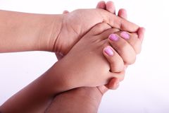 Οικογενειακά χέρια Στοκ Εικόνες