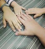 Οικογενειακά χέρια Στοκ Φωτογραφία