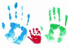 οικογενειακά χέρια Στοκ εικόνες με δικαίωμα ελεύθερης χρήσης