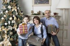 Οικογενειακά Χριστούγεννα Στοκ εικόνα με δικαίωμα ελεύθερης χρήσης