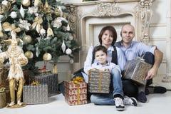Οικογενειακά Χριστούγεννα Στοκ Εικόνα