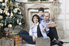 Οικογενειακά Χριστούγεννα Στοκ Εικόνες