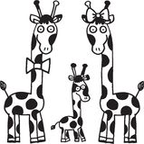 οικογενειακά giraffes Στοκ Εικόνα