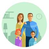 οικογενειακές ευτυχείς νεολαίες Στοκ εικόνα με δικαίωμα ελεύθερης χρήσης