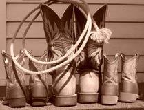 Οικογενειακές μπότες Στοκ φωτογραφία με δικαίωμα ελεύθερης χρήσης