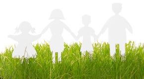 Οικογενειακές σκιαγραφίες εγγράφου Στοκ εικόνες με δικαίωμα ελεύθερης χρήσης