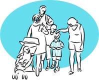 οικογενειακή έξοδος Στοκ Φωτογραφία