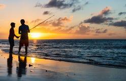 Οικογενειακή αλιεία Στοκ φωτογραφίες με δικαίωμα ελεύθερης χρήσης