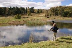 οικογενειακή αλιεία Στοκ εικόνες με δικαίωμα ελεύθερης χρήσης