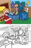 οικογενειακή ανακύκλω διανυσματική απεικόνιση