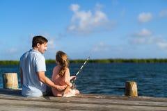 Οικογενειακή αλιεία Στοκ Εικόνα