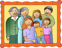 οικογενειακή εικόνα Στοκ φωτογραφία με δικαίωμα ελεύθερης χρήσης
