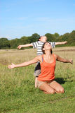 οικογενειακή ελευθ&epsil Στοκ φωτογραφία με δικαίωμα ελεύθερης χρήσης