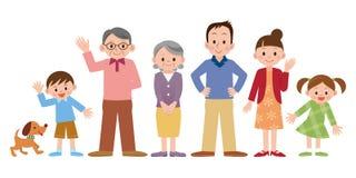οικογενειακή ευτυχής απεικόνιση Στοκ Εικόνα
