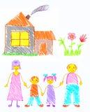 οικογενειακή ευτυχία διανυσματική απεικόνιση