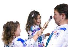 οικογενειακή ζωγραφι&kapp στοκ εικόνα με δικαίωμα ελεύθερης χρήσης