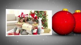Οικογενειακή ζωτικότητα Χριστουγέννων απόθεμα βίντεο