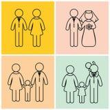 Οικογενειακή δημιουργία αριθμού ραβδιών διανυσματική απεικόνιση
