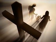 οικογενειακή θρησκεία διανυσματική απεικόνιση
