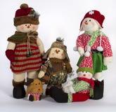 Οικογενειακή διακόσμηση παιχνιδιών χειμερινών Χριστουγέννων Στοκ Εικόνα