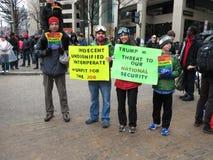 Οικογενειακή διαμαρτυρία στην εναρκτήρια παρέλαση Στοκ εικόνες με δικαίωμα ελεύθερης χρήσης