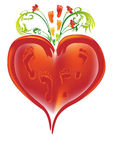 οικογενειακή καρδιά Στοκ Εικόνες