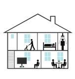 Οικογενειακή κατοικία διανυσματική απεικόνιση
