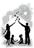Οικογενειακή κατοικία στοκ φωτογραφίες με δικαίωμα ελεύθερης χρήσης