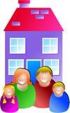 οικογενειακή κατοικί&alpha Στοκ εικόνα με δικαίωμα ελεύθερης χρήσης