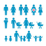 Οικογενειακή σκιαγραφία Στοκ Εικόνες