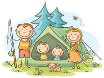 Οικογενειακή στρατοπέδευση ελεύθερη απεικόνιση δικαιώματος