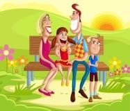 Οικογενειακή συνεδρίαση στο πάρκο απεικόνιση αποθεμάτων
