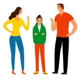 Οικογενειακή σύγκρουση με έναν έφηβο ελεύθερη απεικόνιση δικαιώματος