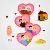 Οικογενειακή υπόδειξη ως προς το χρόνο ελεύθερη απεικόνιση δικαιώματος
