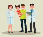 Οικογενειακοί οδοντίατρος και νοσοκόμα Οδοντίατροι και το χαμόγελο ασθενών τους στοκ εικόνα