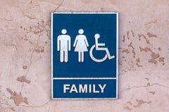 Οικογενειακοί χώροι ανάπαυσης σημαδιών Grunge Στοκ Εικόνα