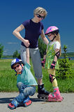οικογενειακός αθλητι&s στοκ φωτογραφίες