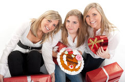 Οικογενειακός εορτασμός Στοκ εικόνες με δικαίωμα ελεύθερης χρήσης