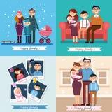 οικογενειακός ευτυχή&s Στοκ φωτογραφίες με δικαίωμα ελεύθερης χρήσης