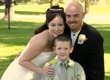 οικογενειακός νέος γάμος στοκ εικόνα με δικαίωμα ελεύθερης χρήσης