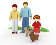 οικογενειακός περίπατ&omic απεικόνιση αποθεμάτων