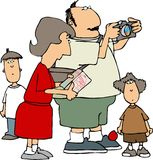 οικογενειακός τουρίστας διανυσματική απεικόνιση