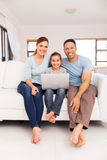 οικογενειακός φορητός προσωπικός υπολογιστής Στοκ εικόνα με δικαίωμα ελεύθερης χρήσης